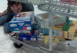 when 14-year olds do the grocery shopping
