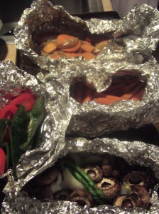 Grilled poblanos are very tasty. Also sweet potato with apples straight from the mountains.