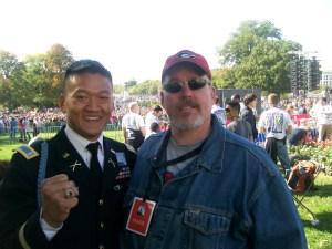 L-R: Hero Dan Choi, Moopah Kyle Crawford